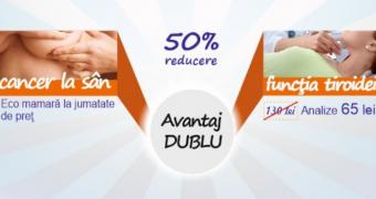 """""""Avantaj dublu"""", o campanie de depistare a cancerului la san si a bolilor tiroidiene"""
