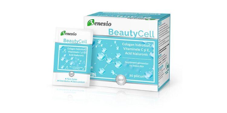 Benesio, BeautyCell, colagen, vitamina C, vitamina E, acid hialuronic,
