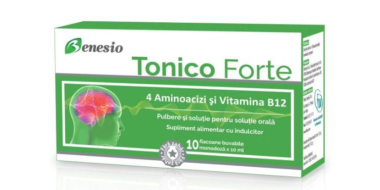 benesio tonico forte, supliment alimentar, catena, activitate cerebrala, sistem imunitar, stari de convalescenta, aminoacizi, vitamina B12,