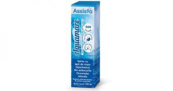 Aquamare Spray cu apă de mare hipertonică