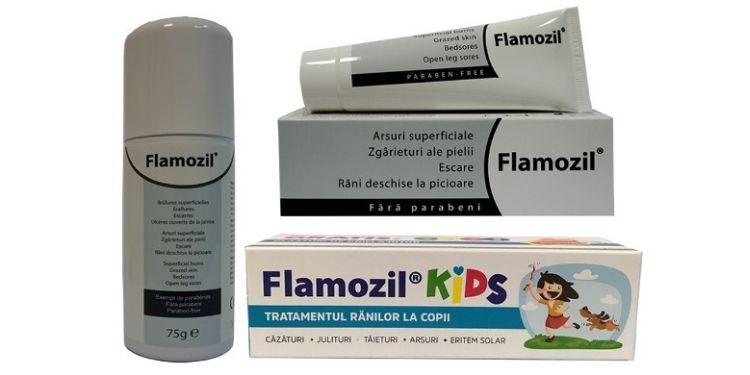 Flamozil, Gama Flamozil, vindecare, răni,