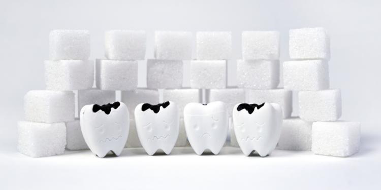 zahărul, saliva, smalţ, bacterii,